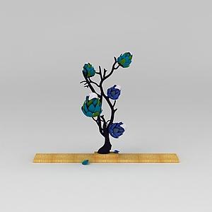 美陈精灵树模型