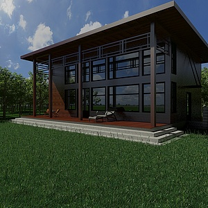 戶外景觀木屋模型3d模型