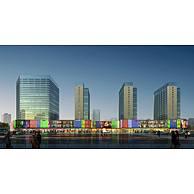 酒店住宅综合建筑3D模型3d模型