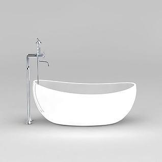元宝浴缸3d模型