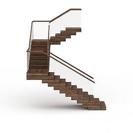 旋转实木楼梯3d模型