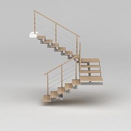 3d简约<font class='myIsRed'>旋转楼梯</font>模型
