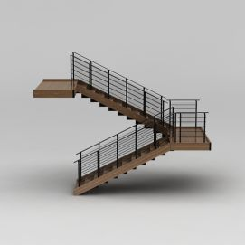 3d教学楼<font class='myIsRed'>旋转楼梯</font>模型