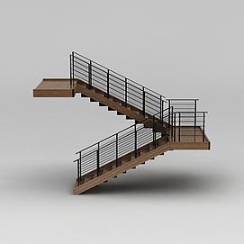 教学楼<font class='myIsRed'>旋转楼梯</font>3d模型