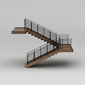 教学楼旋转楼梯模型