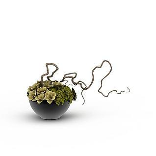 创意室内盆栽3d模型3d模型