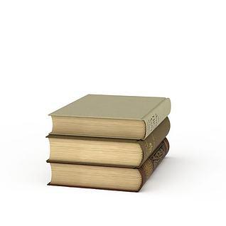 书籍词典3d模型