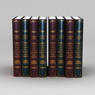 书籍圣经词典3d模型