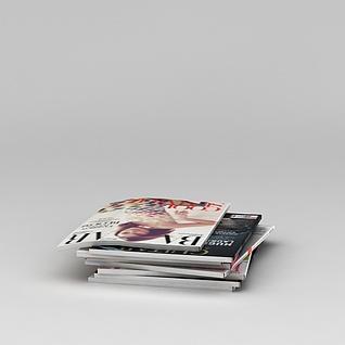 报刊杂志3d模型