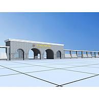 学校石拱大门3D模型3d模型