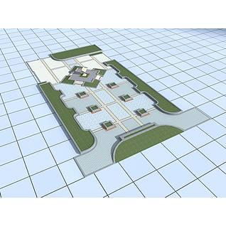 公园广场3d模型