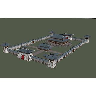淮南王宫3d模型