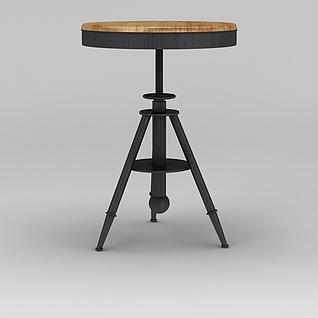 可升降圆凳3d模型3d模型