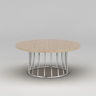 现代简约餐桌3d模型