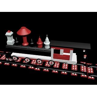 玩具火车3d模型3d模型