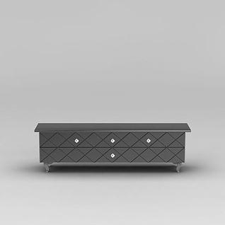 德龙牌电视柜3d模型