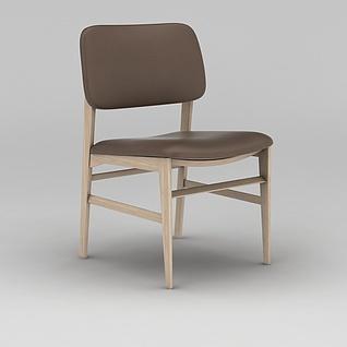 现代简约木质椅子3d模型