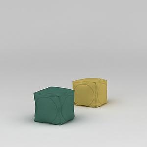 3d榻榻米沙發凳模型