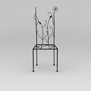 铁艺雕花椅子3d模型3d模型