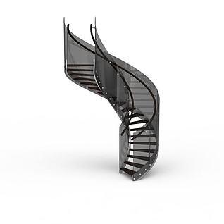 现代室内螺旋楼梯3d模型
