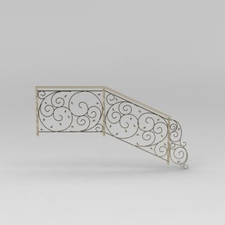 现代欧式雕花楼梯扶手3d模型