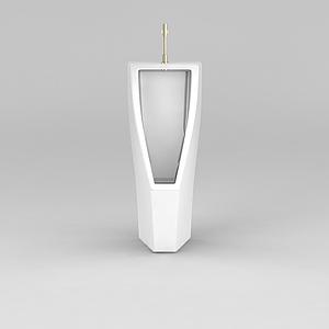 现代陶瓷小便器模型
