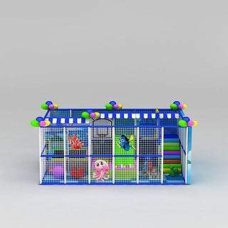 儿童游乐设施淘气堡3d模型