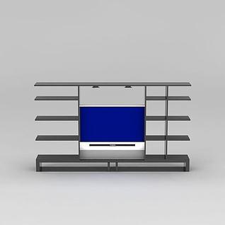 简约电视组合柜3d模型