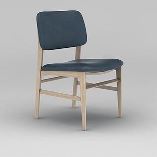 现代木椅3d模型
