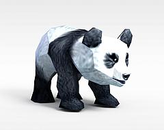 龙子谷游戏动漫角色熊猫模型3d模型
