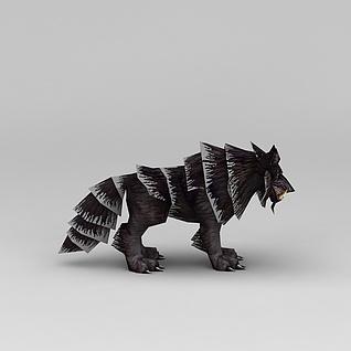 游戏角色怪兽狼3d模型3d模型