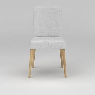 现代简约实木椅子3d模型