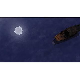江南乌篷船3d模型