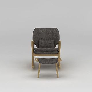 现代休闲椅3d模型