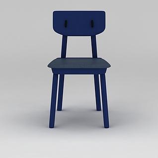 现代蓝色休闲椅3d模型3d模型