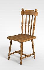 中式实木雕花椅子3D模型3d模型