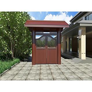别墅木门3d模型3d模型