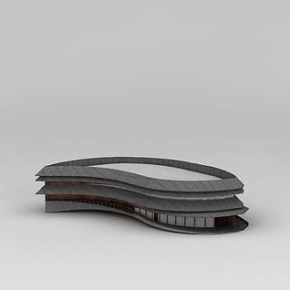 异形古建筑3d模型3d模型