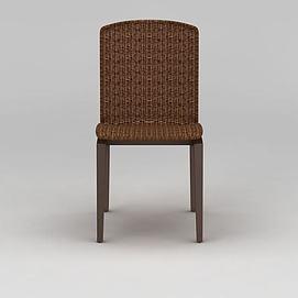 3d现代藤椅模型