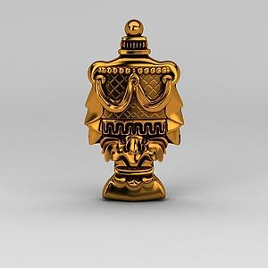 歐式豪華金色雕花模型