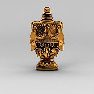 欧式豪华金色雕花3d模型