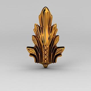 金属雕花装饰品3d模型