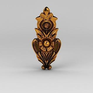 欧式雕花装饰品3d模型