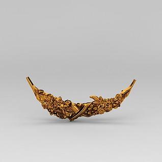 精美雕花装饰品3d模型