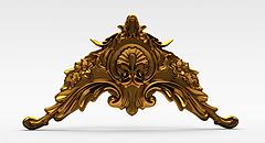 欧式金属雕花模型3d模型
