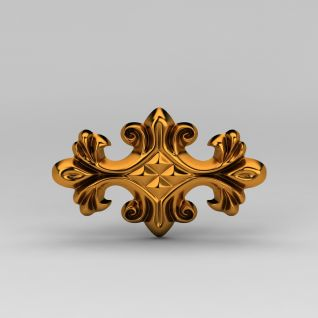 欧式金属雕花3d模型