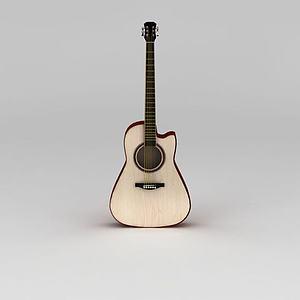 白橡木民谣吉他模型