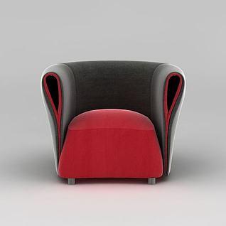 现代单人软沙发3d模型