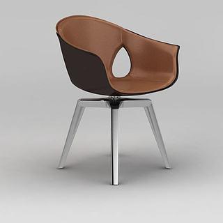 现代北欧椅子3d模型