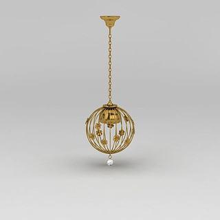 现代艺术吊灯3d模型